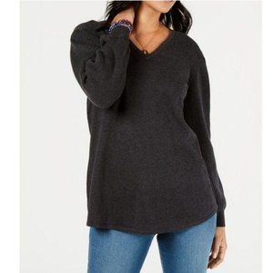 STYLE & CO Pleated Sleeve Tunic Sweater